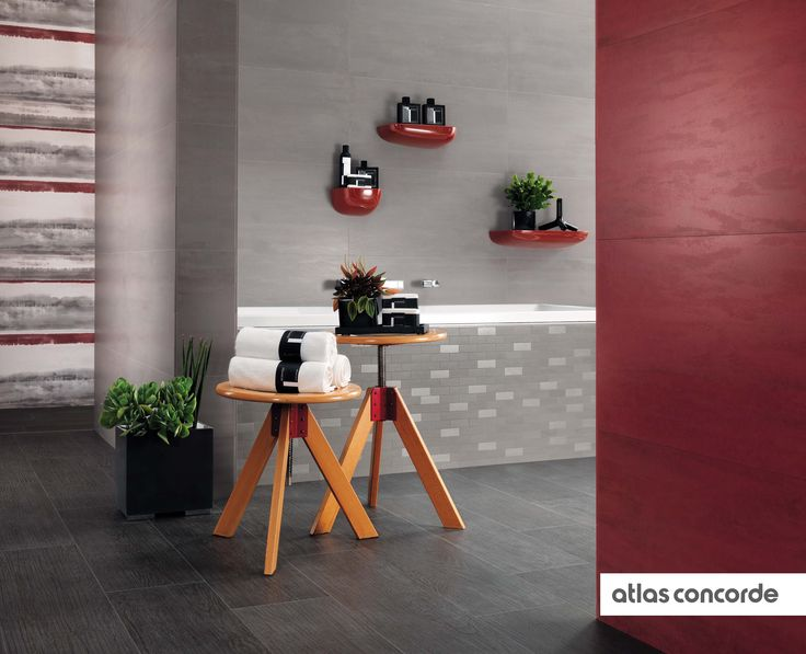 #BORD liquorice | #ARTY tabasco, charcoal | #AtlasConcorde | #Tiles | #Ceramic | #PorcelainTiles