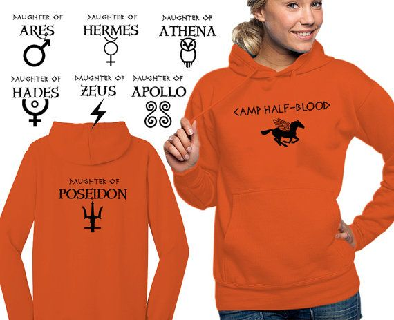 Camp Half Blood hooded sweatshirt Percy Jackson and the Olympians Demigod women girl hoodie