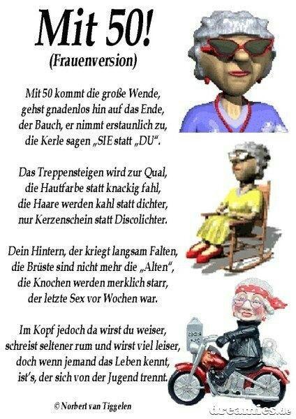 Bildergebnis Fur Frau 50 Geburtstag Lustig Gluckwunsche