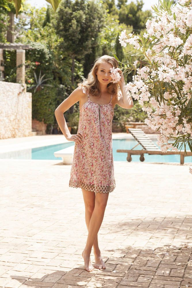 Soft woven viscose floral print nighdress from #Nota_Lingerie