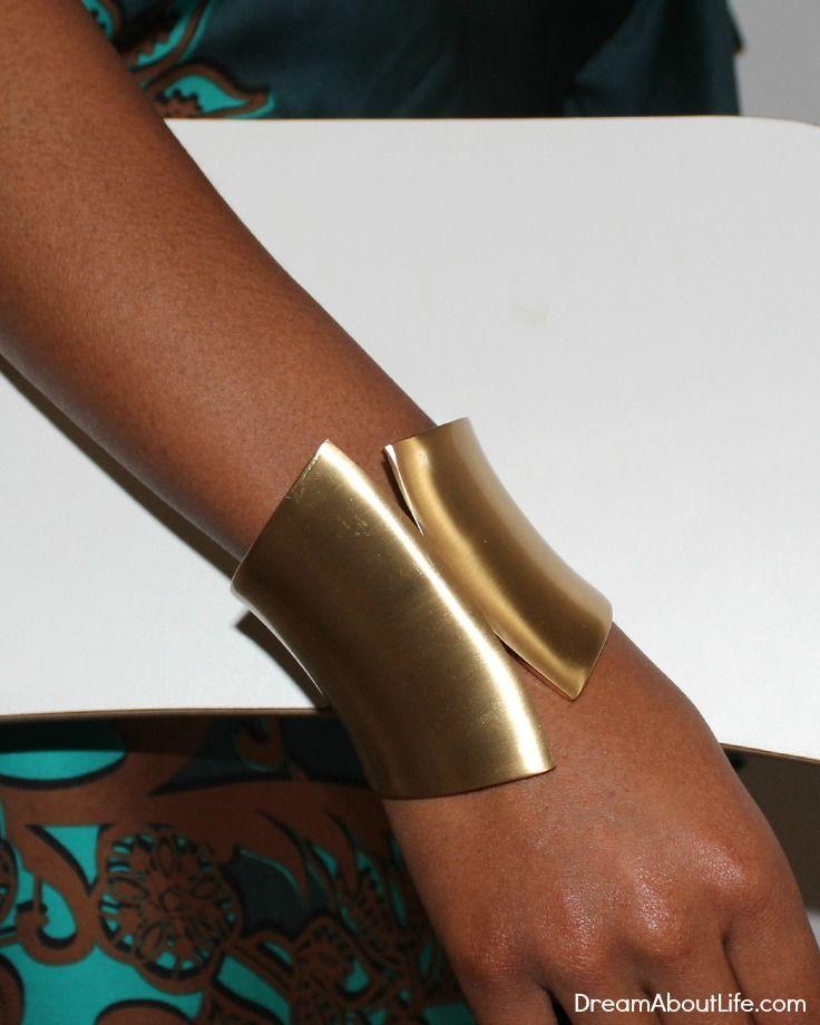 Eden Bracelet - Gold Metal Cuff Bracelet