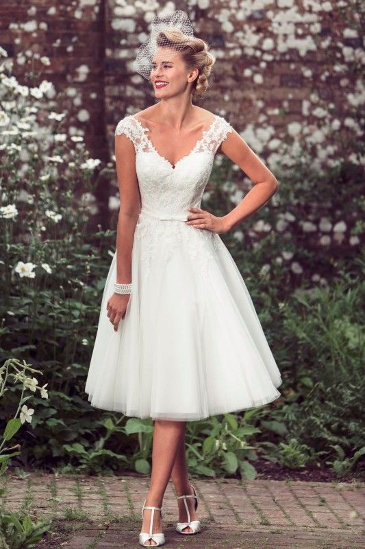 Tea Length Wedding Dress. Click here to see the full line Brighton Belle by True Bride – Tea Length Wedding Dress http://www.mydreamlines.com/2016/05/tea-length-wedding-dress/ #weddingdress #tealengthweddingdress #shortweddingdress