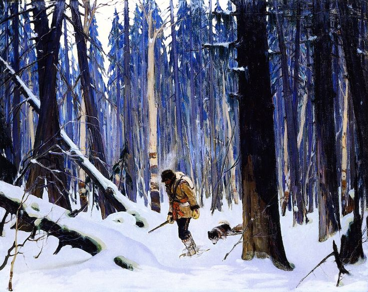 """Trapper in the Woods"" Follow the biggest painting board on Pinterest: www.pinterest.com/atelierbeauvoir"