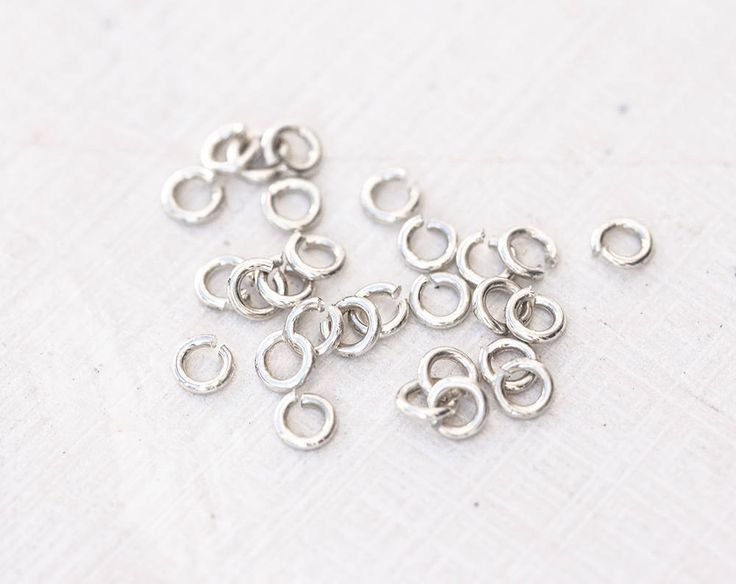 2613_Sterling silver jump rings 3.3x0.7 mm, Jewerly connectors 925 silver jump rings, Strong jump rings, Open jump rings, Small rings_30 pcs by PurrrMurrr on Etsy