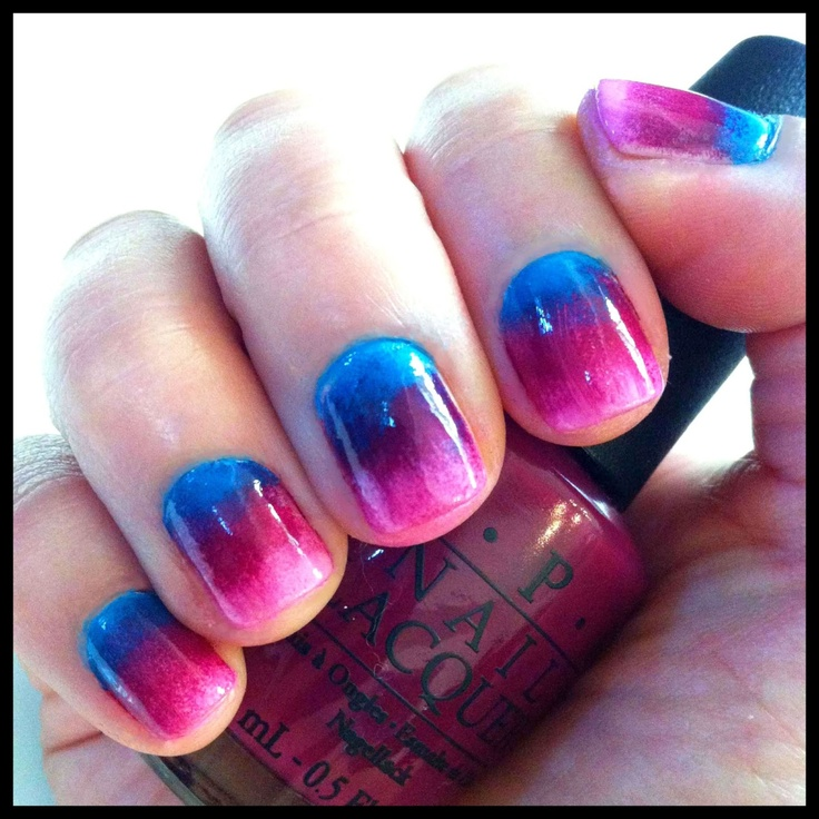 DIY Ombre Nails.  Best tutorial I've seen so far on how todo it!!!:)Nails Style, Nails Nails, Nails Art, Diy Ombre Nails, Hair Nails Beautiful, Nails Design, Nails Summerstyle, Makeup Art, Style Summer