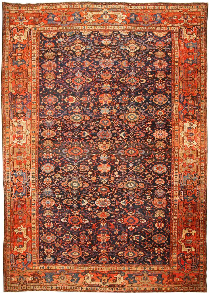 blue antique persian rug antique sultanabad persian