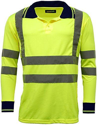 From 8.95 High Vis Visibility Long Sleeve Polo T Shirt En471 - Hv005