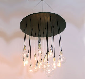 Circular Chandelier only with Edison bulbs!