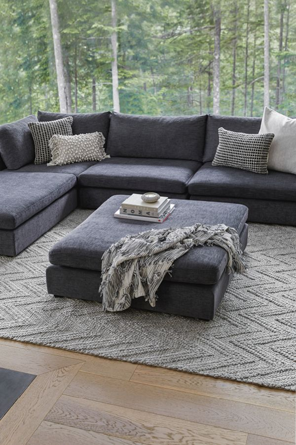 You Can Have It All Modular Sofas Can Be Arranged As The Focal Point Of A Room Or Be Dark Grey Couch Living Room Grey Couch Living Room Grey Sofa Living