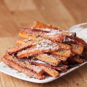 Bâtonnets de carottes au four #dip - CARROT FRIES!