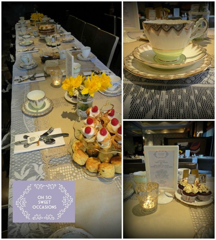 All set-up for a 1920s inspired vintage tea party