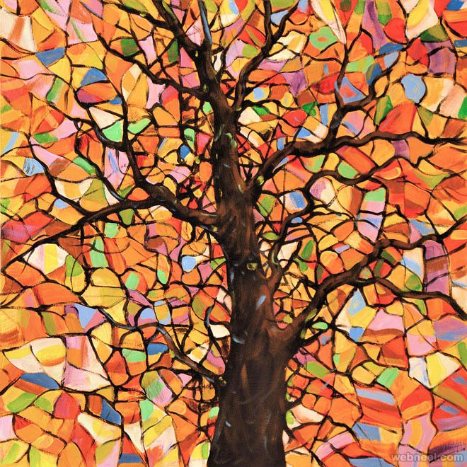 35 Stunning and Beautiful Tree Paintings for your inspiration. Read full article: http://webneel.com/tree-paintings | Follow us www.pinterest.com/webneel