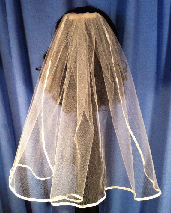 Single Tier Ribbon Edge Wedding or Communion by JLOSpecialties