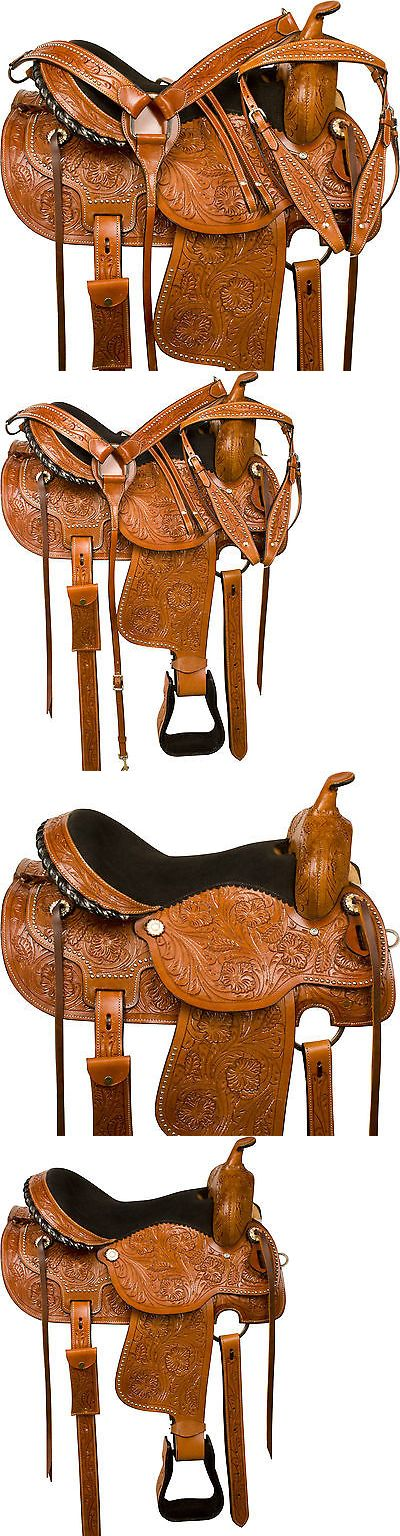 Saddles 47291: Western Pleasure Trail Show Barrel Racing Horse Leather Saddle Tack Set 16 -> BUY IT NOW ONLY: $284.99 on eBay!