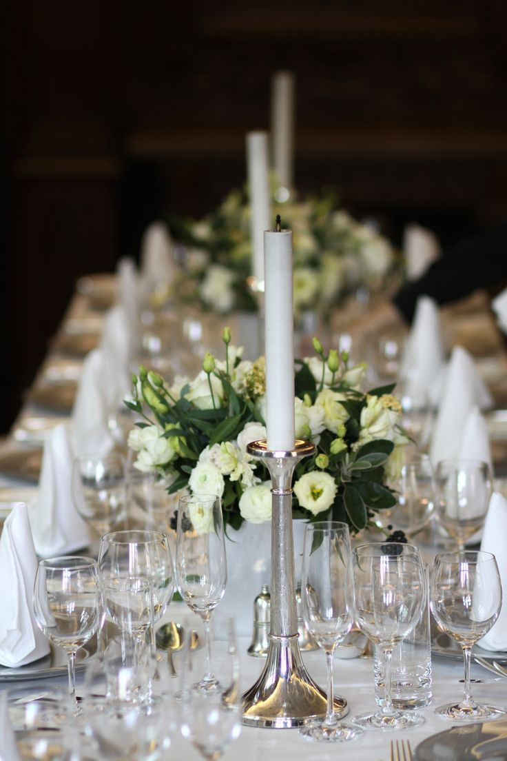 Middle Temple silver candelabra will dress tables beautifully