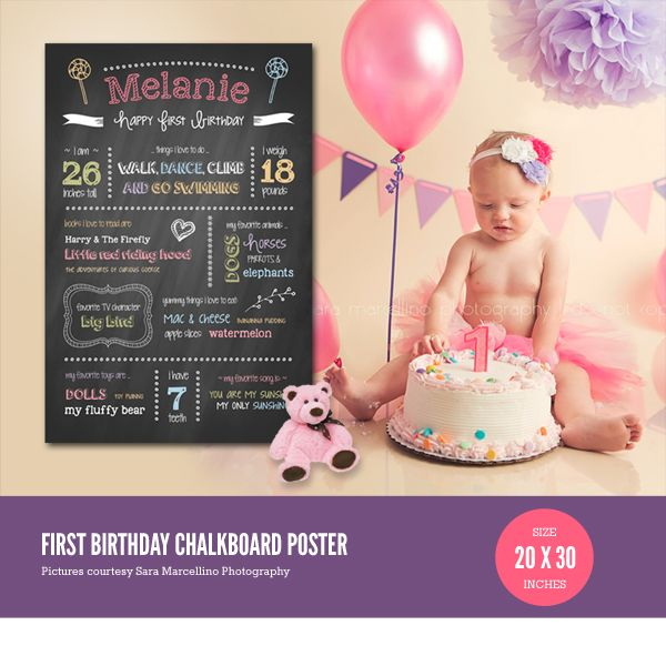 1000 images about princess 1st birthday party on for First birthday board template