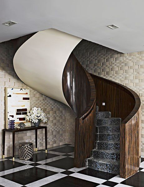 An amazing staircase featured in artfully modern by richard mishaan
