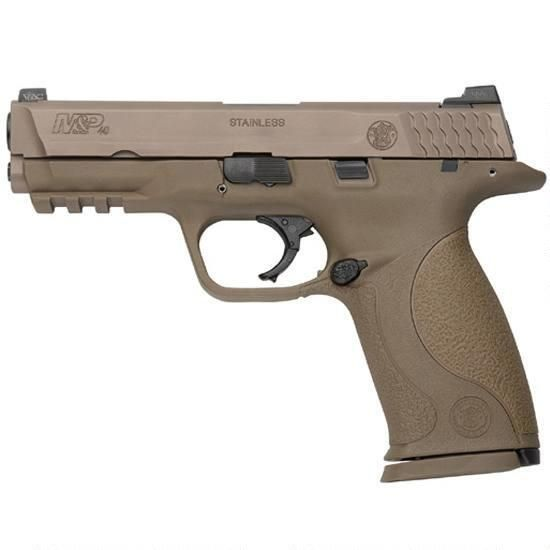"S&W M&P VTAC Viking Tactics Semi Automatic Pistol .40 S&W 4.25"" Barrel 15 Round Capacity Polymer Grip Flat Dark Earth Finish with VTAC Warrior Sights"