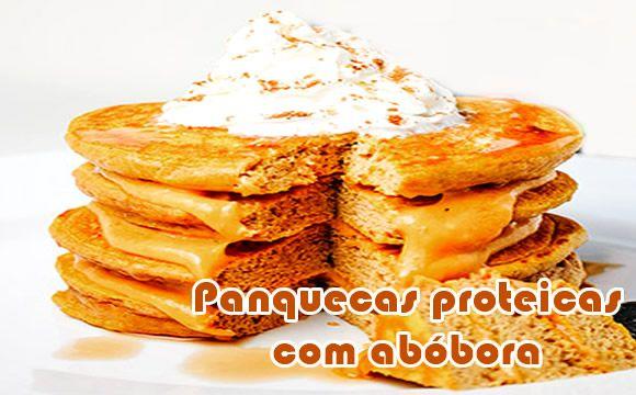 Torta de panquecas proteicas de abóbora #receitasanabolicas #receitasproteicas #receitasfit
