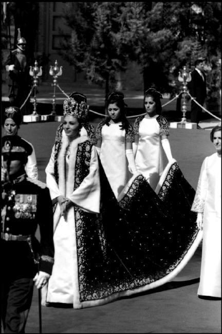 Tehran. 1967. Crowning of the Shah. The Empress Farah Diba after coronation