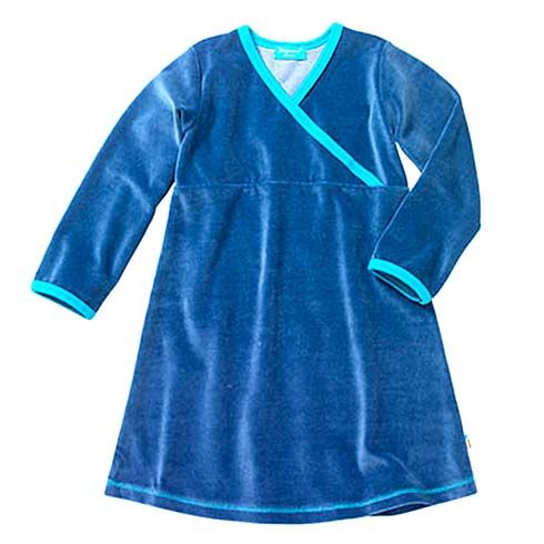 Dress Velour Blueberry by Tragwerk