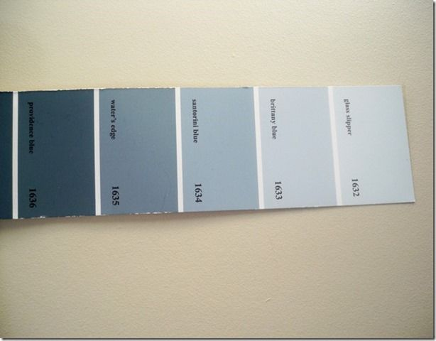 One of my favorite blues i have used with shaker beige is - Benjamin moore shaker gray exterior ...