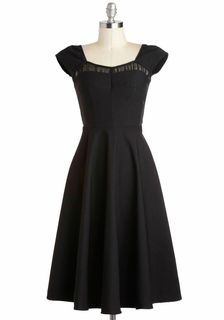 Pucker Up Cotton Shift Dress Long Black Modcloth And Cap