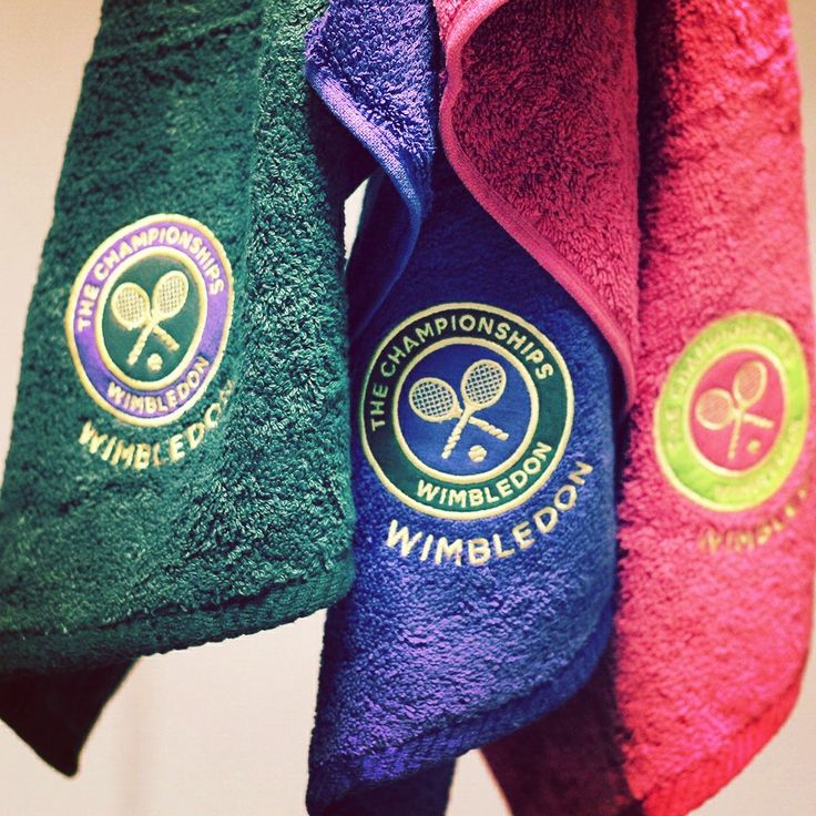 Your Tennis kit is incomplete without these Official Wimbledon Towels!  #Wimbledon #Tennis #Sports