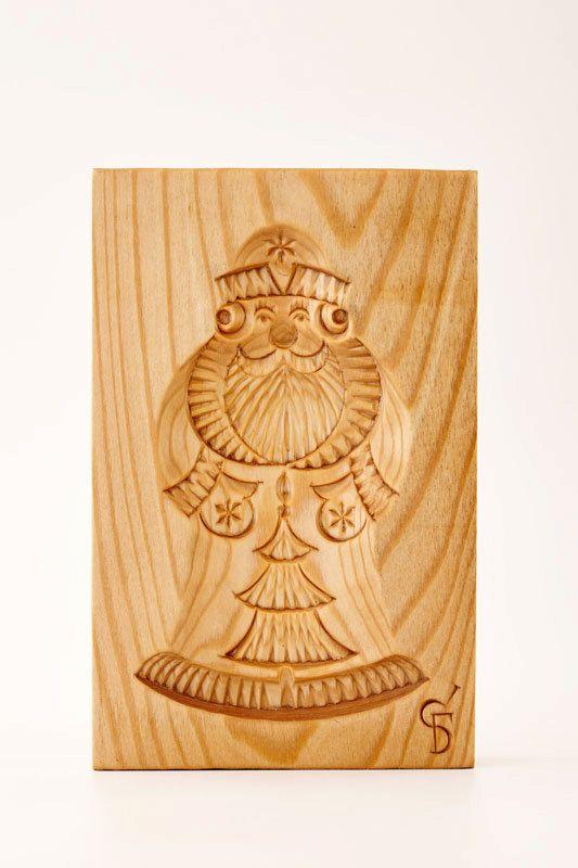 DEDUSHKA MOROZ wooden mold for pryaniki and by PryanikiAndCookies