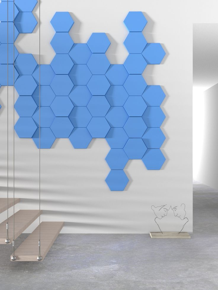 Hexagon wall panel by Kalithea