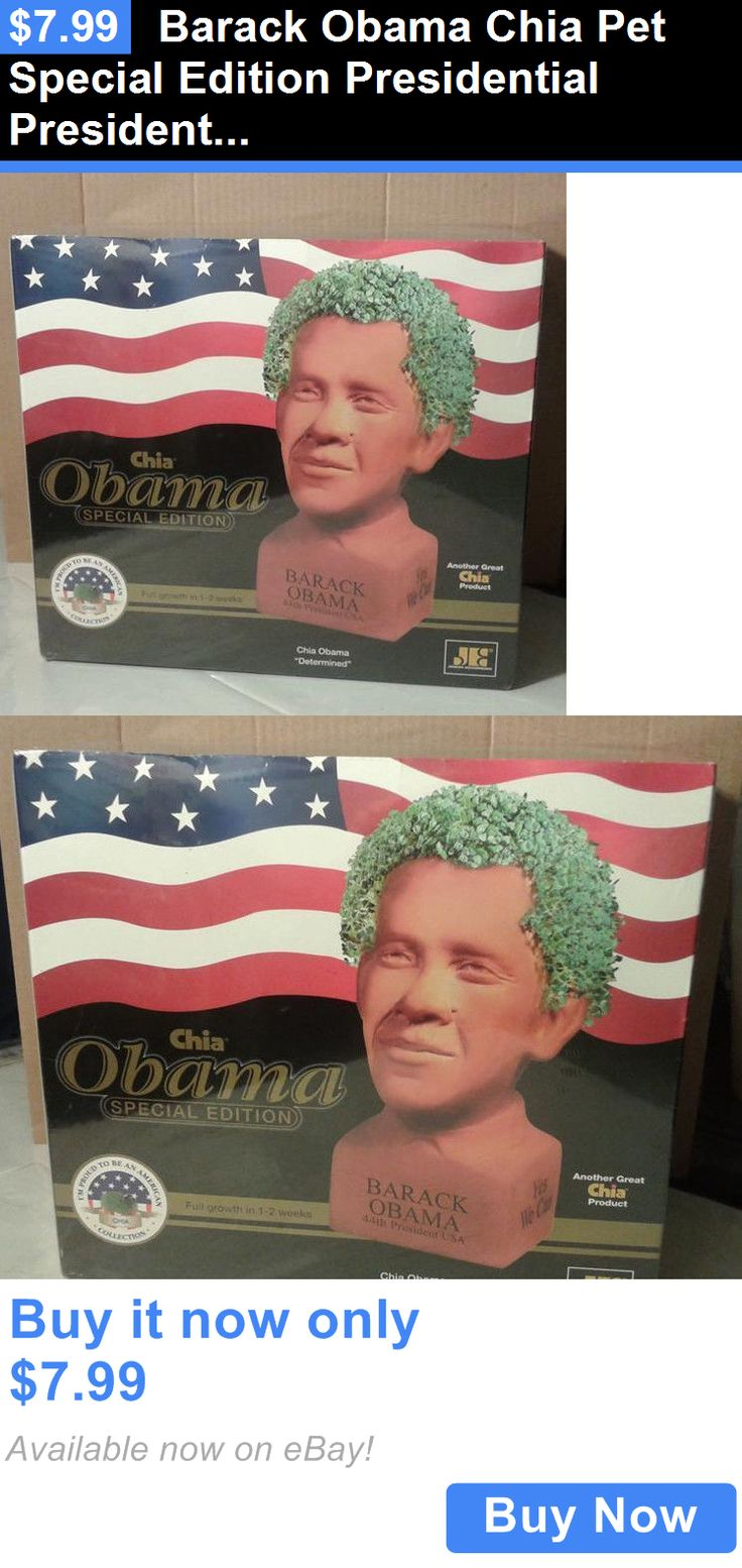 Barack Obama: Barack Obama Chia Pet Special Edition Presidential President Determined New BUY IT NOW ONLY: $7.99