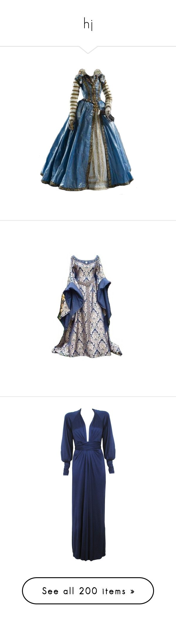 """""""hj"""" by iamdreamchaser ❤ liked on Polyvore featuring dresses, dolls, gowns, vintage, blue vintage dress, baby doll dress, babydoll dresses, blue color dress, blue babydoll dress and gown"""