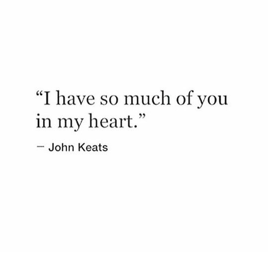 I have so much of you in my heart