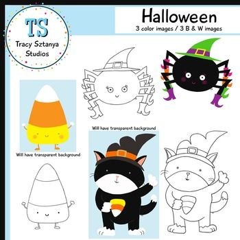 Halloween Freebie Clipart {Tracy Sztanya Studios}