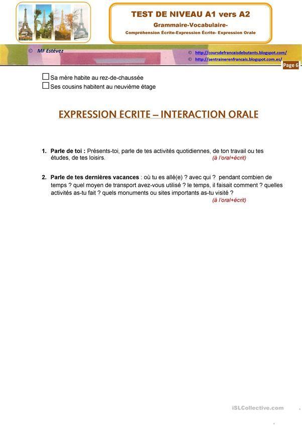 Compréhension De L Oral A2 Epingle Sur Francais Rose