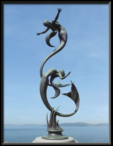 "Mermaids by David Goode £125,000 12'6"" bronze sculpture. Incredible form and flow!"