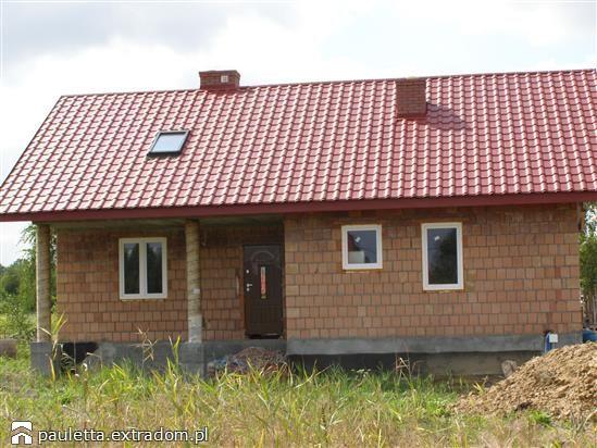 W budowie Modrzyk - szkielet drewniany prefabryk. | extradom