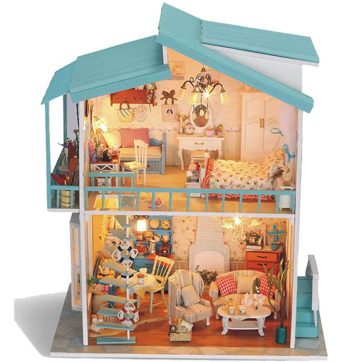 making dollhouse furniture. free shipping diy doll house ultralarge sweetheart handmade assembled model romantic christmas gift toy making dollhouse furniture m