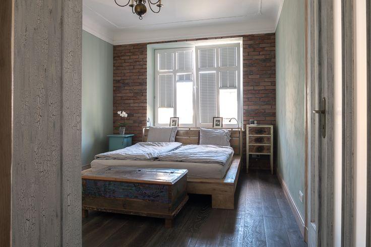 Apartament na Mokotowie- Sypialnia - tryc.pl shabby chic bedroom