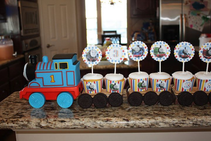 Thomas the Train, Thomas and Friends, Thomas the Tank Birthday Party Cupcake Wrappers - Personalized - 2 Styles - Digital File - You Print. $2.99, via Etsy.