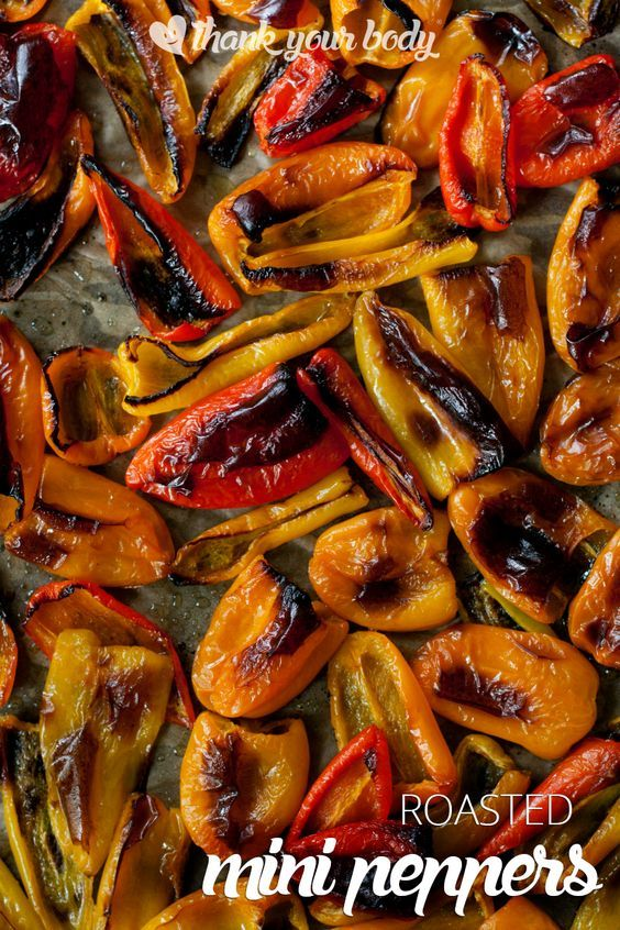 This recipe for roasted mini peppers is so easy, you'll have plenty of savory-sweet peppers for your eggs, pasta, salsa and baked chicken in no time!