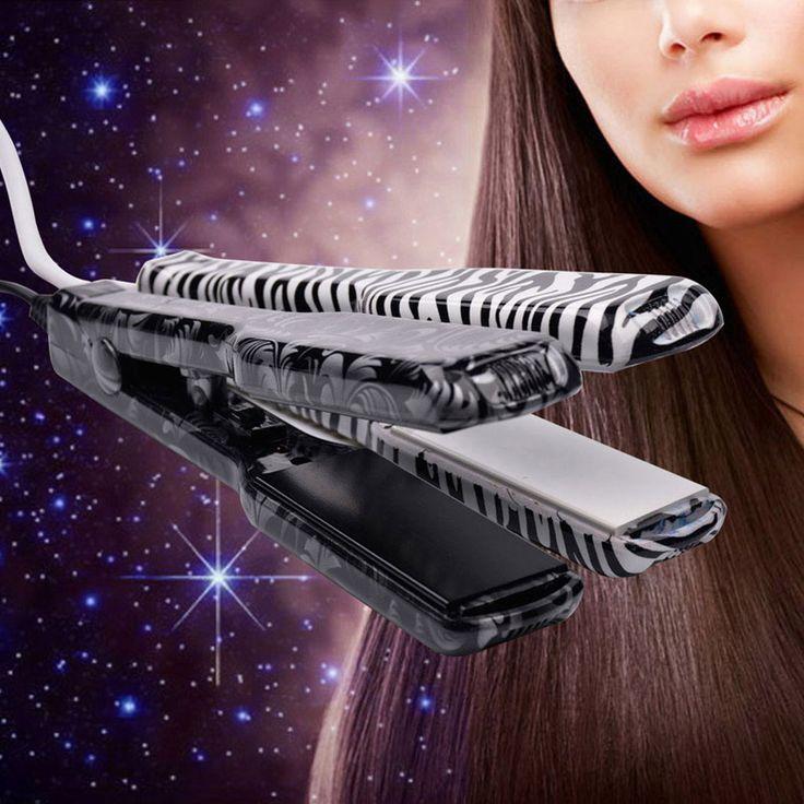 Portátil Mini bonito placa de aquecimento de cerâmica plana ferros alisamento alisador de cabelo cor aleatória HS33P53 alishoppbrasil