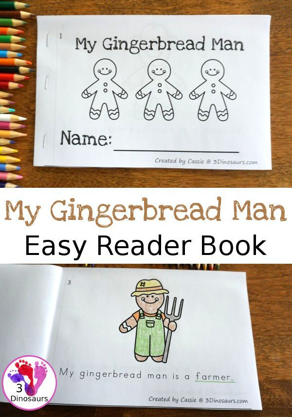 Free My Gingerbread Man Easy Reader Book 10 Ten Page Book For Kids