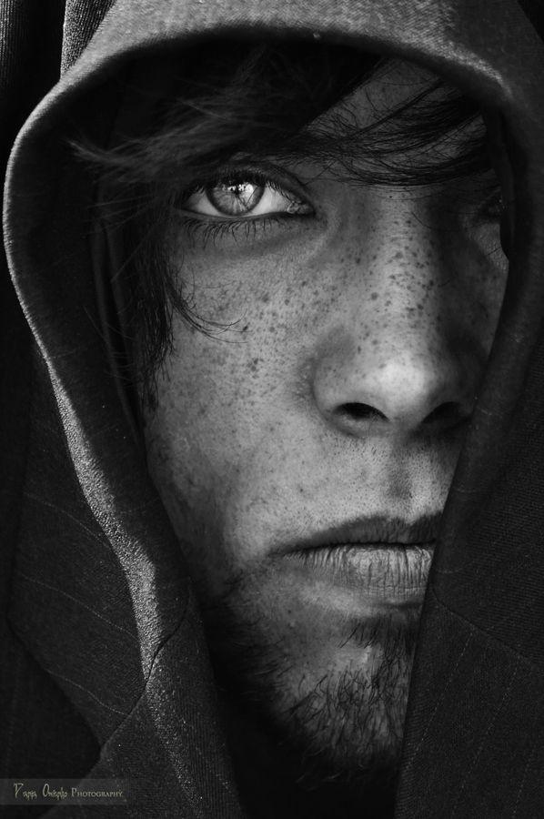 ♂ Black & white photography man portrait