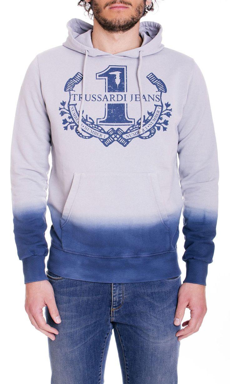 Trussardi Jeans | Felpa Trussardi Jeans Uomo Con Cappuccio Col. Pervinca - Shop Online su Dursoboutique.com 52F30