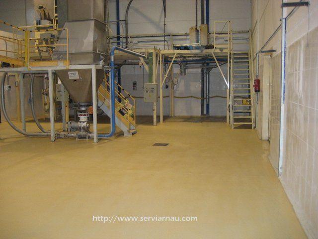 Aplicación de resina epoxi alimentaria en panificadora