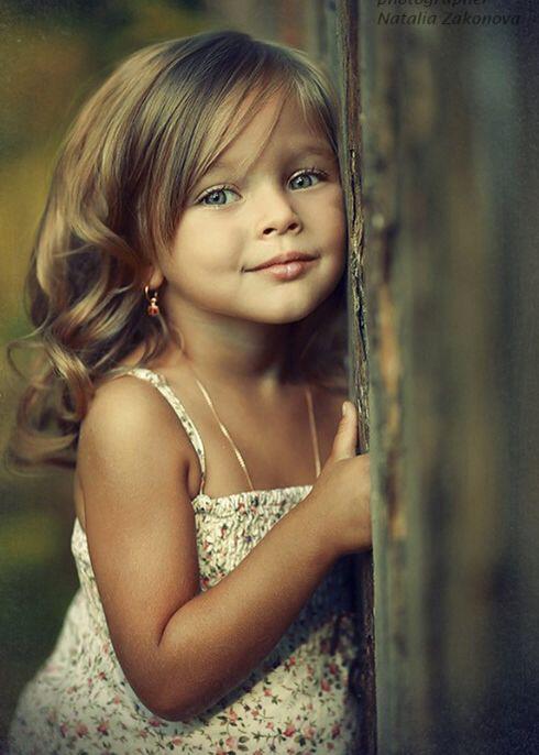 Beautiful little girl .