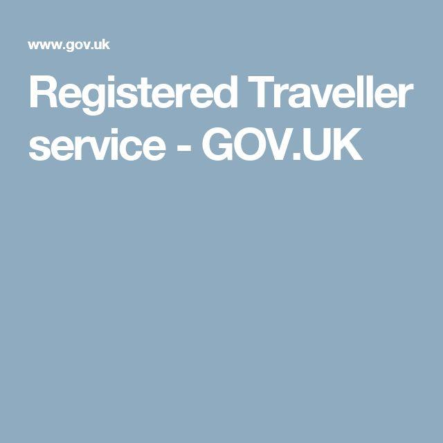 Registered Traveller service - GOV.UK