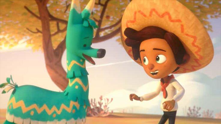 Hola Llamigo- we can use this video with third for día de la amistad and teach them the origins of the piñata.