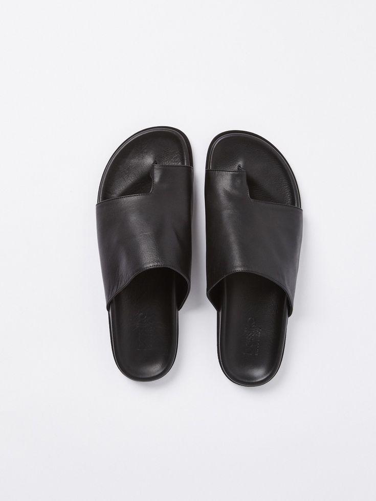 leather slide - Bassike